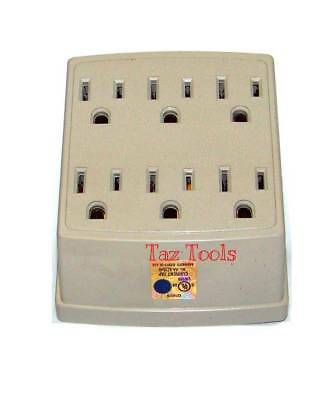 6 Outlet Wall Plug Adapter Adaptor Tap 125v 1875 Watts 15 Amps Power Expander