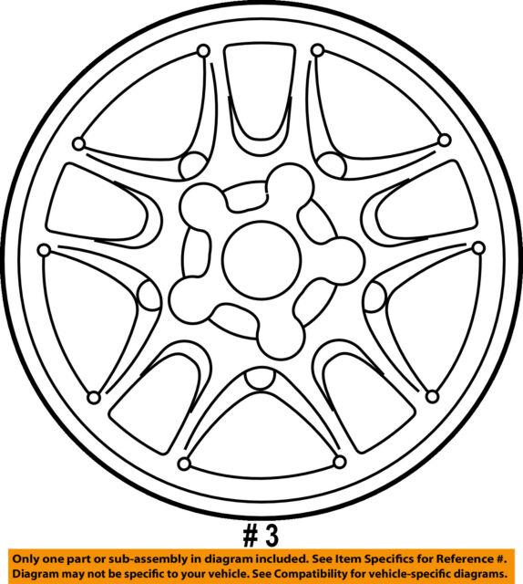 ford oem 06 11 crown victoria wheel alloy 6w7z1007ba ebay Custom Crown Vic Parts