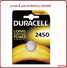 1 pile bouton CR2450 lithium Duracell, livraison rapide et gratuite
