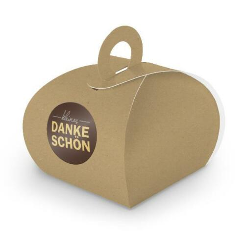 itenga SET kleines Dankeschön Motiv19 24x Geschenkschachtel braun Kraftkarton