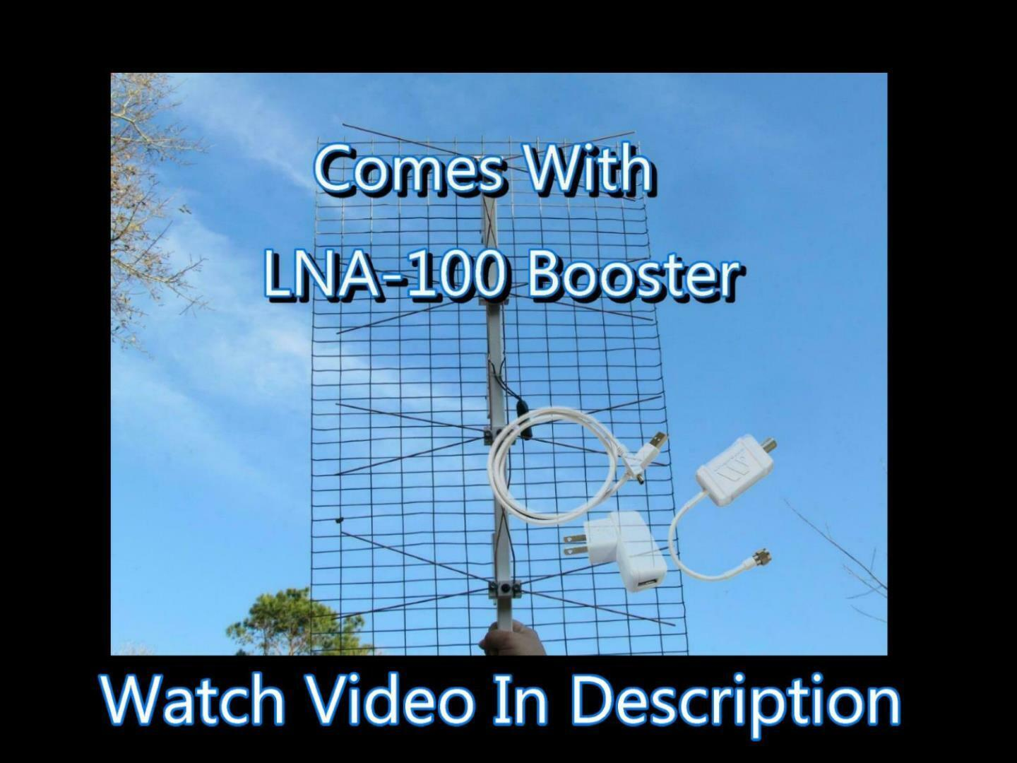 The Ultimate Outdoor TV Antenna with LNA-Boost 100 Amplifier 20+ DB Gain. Available Now for 120.00