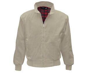 Heavy Harrington Jacket Tartan Lined Beige Punk Skinhead Jacke Army