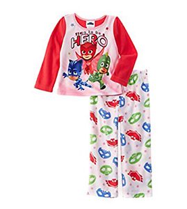 "PJ Masks Toddler Girls/' Three Piece /""It/'s Time To Be a Hero/"" Pajama Set Size 2T"