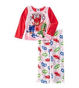 PJ Masks Litte Toddler Girls It/'s Time To Be A Hero Fleece Pajama Set