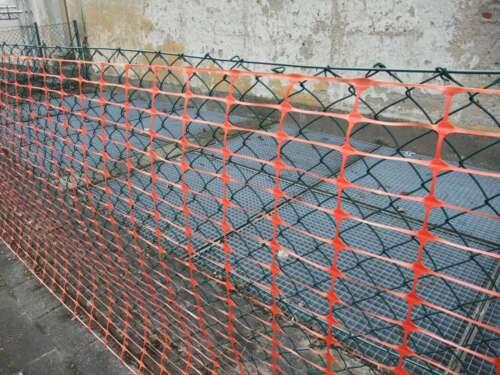 2x Bauzaun 50 x 1 m Warnnetz Orange Auffangnetz Schutzzaun Warnzaun Absperrzaun
