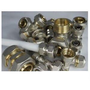 Klemmring-Schraubfitting-fuer-26-3mm-Aluverbundrohr-PEX-nur-26x1-2-034-26x3-4-034-26x1-034