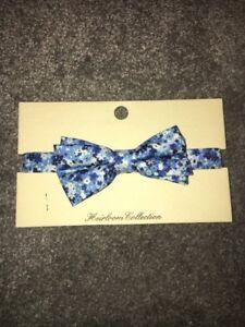 John Lewis Suit Tux Floral Blue Print Bow Tie Size S//M /& M//L  Brand New RRP £8