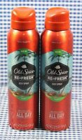 2 Old Spice Refresh Red Zone Collection Fiji Body Spray (3.75 Oz)