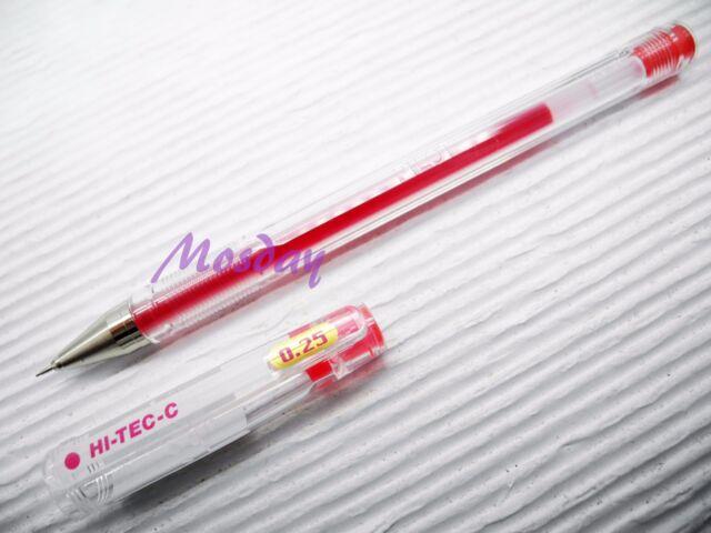 Pilot Hi-Tec-C gel pens 0.25mm 5 blue pen