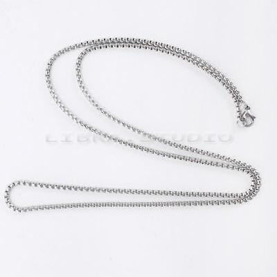 Unisex Titanium Steel Snake Chain Stainless Steel Necklace Silver Fashion 2mm