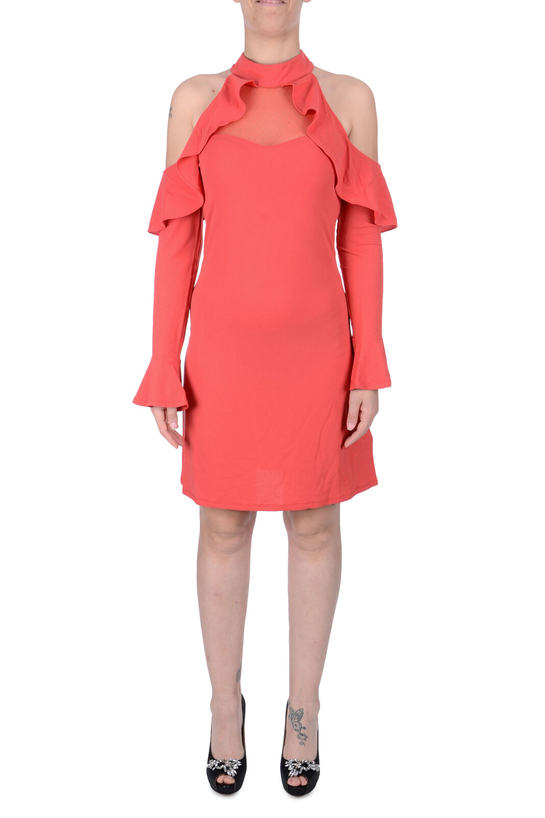 Kleid Frau GUESS W73K80-K6190 Herbst Winter neu