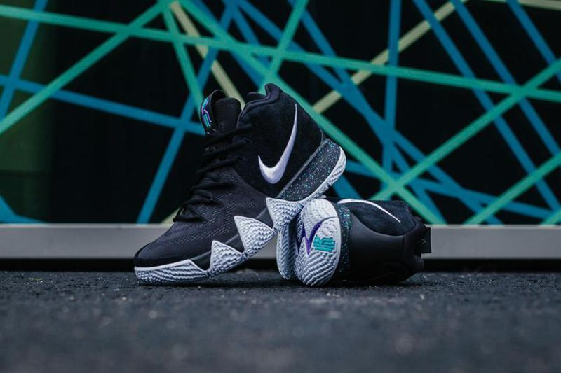 NIKE KYRIE 4 BLACK WHITE ANKLE TAKER 943806-002 IRVING Basketball Shoes EP 9.5 Special limited time