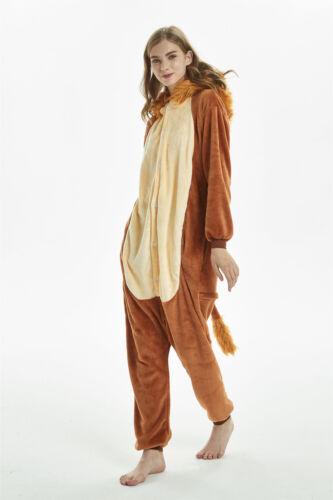 Unisex Cosplay Adult Animal  Lion Onesie9991 Kigurumi Pajamas Sleepwear S-XL