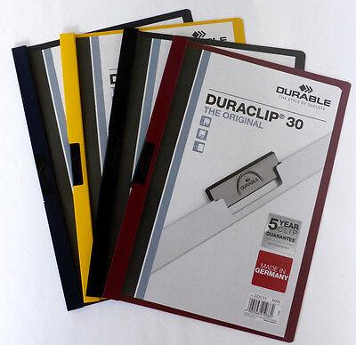 Papier, Büro- & Schreibwaren Herrlich Schnellhefter Duraclip Klemmappe Bewerbung Hefter 30 Seiten 5 Stück üBereinstimmung In Farbe