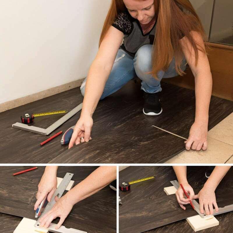 DHL Selbstklebende PVC Bodenfliesen Holz Korn Textur 4.18Quadratmeter Bodenbelag