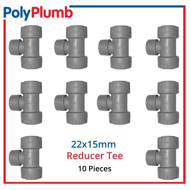 Polymax Streamline Push Fit 15mm Equal Tee 10