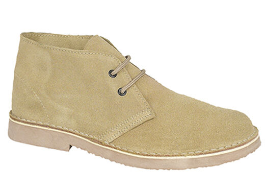 Mens New Wide Fitting Rounded Front  Camel   Taupe Suede Desert Boots Uk 3 - 15