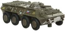 Russian armored personnel carrier BTR-80. Metal toy. 1/64 scale.