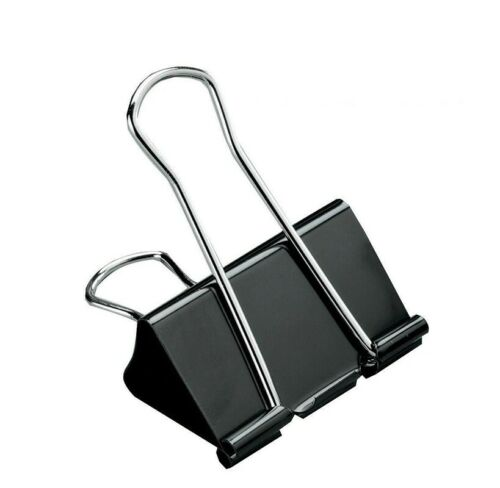 25mm Black Color Office School Paper Organizer Stationery Supply Metal Clips
