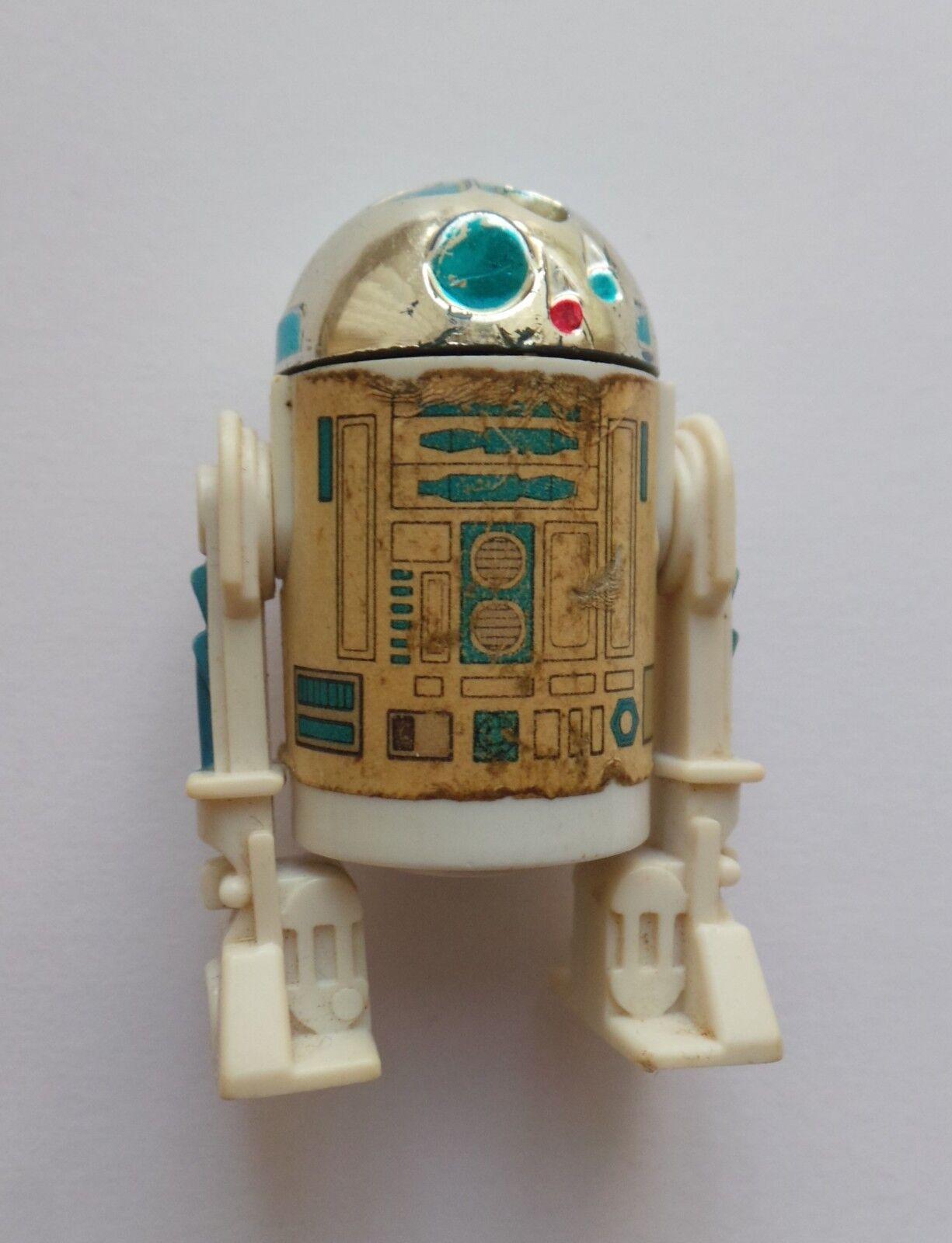 VINTAGE ORIGINAL STAR WARS - LAST 17 R2-D2 POP UP LIGHTSABER  - LFL 1985 FIGURE