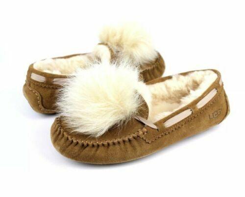 dd66c949628 UGG Womens Dakota Pom Pom SLIPPER 1019015 Chestnut Size 6 for sale online |  eBay