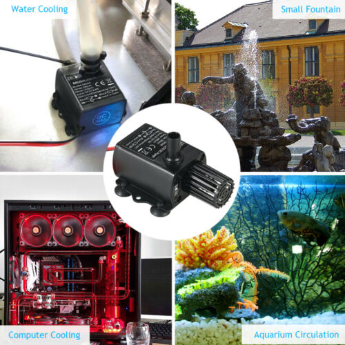 Decdeal DC12V Brushless Pompe À Eau Étanche Submersible Fontaine Aquarium G3Y3