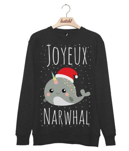 LOTTO 1 Joyeux Noël Narvalo Novità Natale Alla Moda Da Uomo Natale Felpa