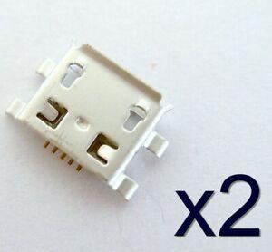 2x Female connector to solder 2x connecteur à souder micro USB type B femelle