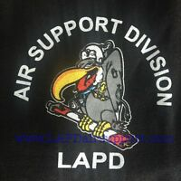 Lapd Los Angeles Police Air Support Division T-shirt Buzzard Logo Tee