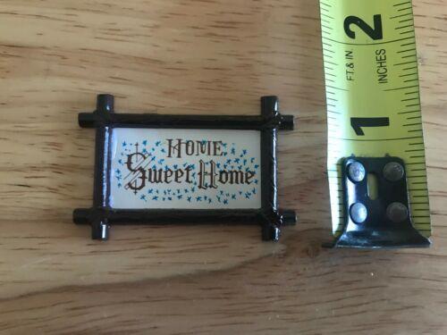 Dollhouse Miniatures Home Sweet Home Frame Shackman 1980s
