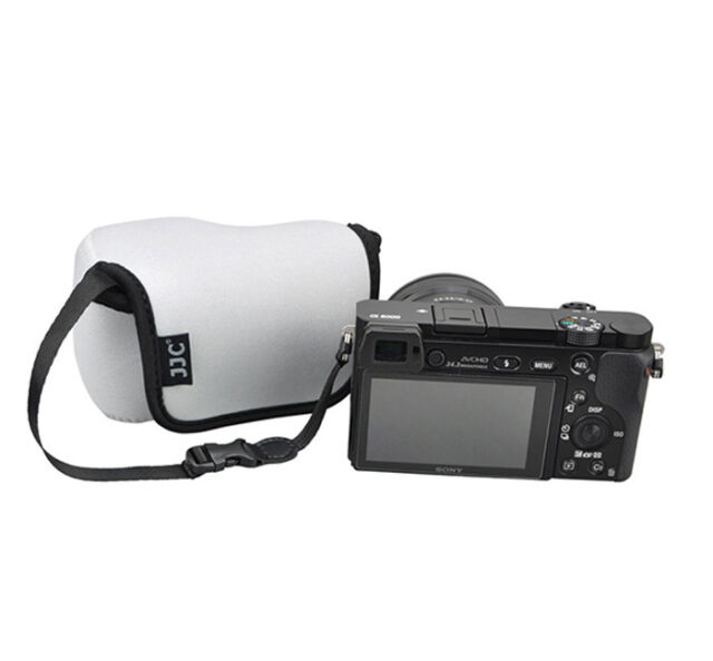 Gray Camera Pouch Case Bag fits Sony A6500 A6400 A6300 A6000 A5100 +16-50mm Lens