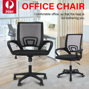 Ergonomic Office Chair Gaming Computer Mesh Chairs Executive Mid Back Black Au Ebay