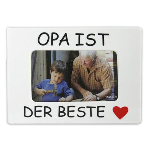 Cadre photo F 10 x 15 cm papa//grand-père est le meilleur ♥ maman//mamie est la meilleure ♥