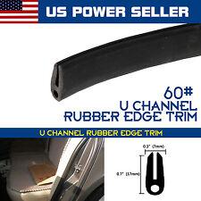 "120"" Car Auto Rubber Seal Strip Window Door Edge Protect Molding Trim U Shape"
