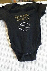 "Harley-Davidson Baby Black T-shirt /""Born Tough/"" 12 months"
