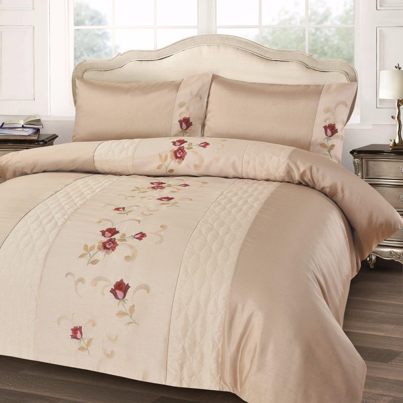New Luxury Designer Soft Floral Duvet Quilt Cover Bedding Set Single Double King