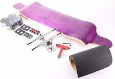"""41"""" Blank Purple Drop Down Longboard with Black wheels Complete Kit"""