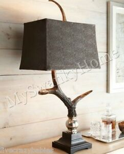 Merveilleux Image Is Loading Luxe Masculine RUSTIC ANTLER TABLE LAMP Accent Eco