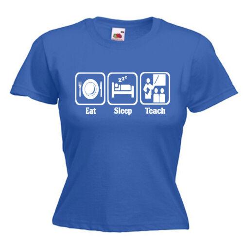 Teach Teacher TA Ladies Lady Fit T Shirt 13 Colours Size 6-16