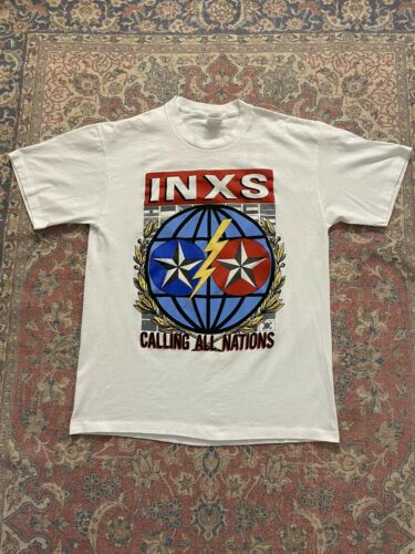 Vintage INXS Tour Shirt 1988 Calling All Nations K