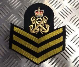 Original-Britische-Koenigliche-Marine-Rn-Bestickt-Petty-Offizier-Po-Rank-Badge