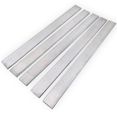 US Stock 5pcs 4mm x 40mm x 250mm 6061 Aluminum Flat Bar Flat Plate Sheet