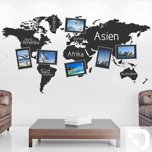Das Bild Wird Geladen Wandtattoo Fotorahmen Weltkarte Zum Selbstgestalten  Von DESIGNSCAPE