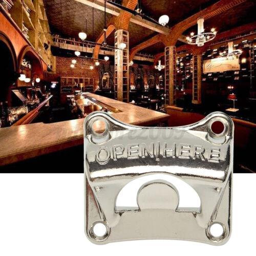 Wall Mount Bottle Opener Convenient Pratical Beer Opener Zinc Alloy Bar Home