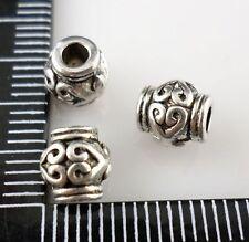 24pcs Tibetan Silver Hole 2mm Spacer Beads DIY Jewelry Beading 6x6.5mm