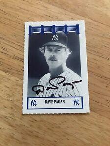 DAVE PAGAN SIGNED 1992 NEW YORK YANKEES 1970'S WIZ SGA PROMO BASEBALL CARD