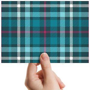 Scottish-Teal-Tartan-Fabric-Small-Photograph-6-034-x-4-034-Art-Print-Photo-Gift-12328