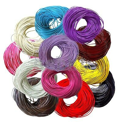 Top Quality Leather Cord Necklace String Thong Lace Leather Cord 1,1.5,2,2.5,3MM