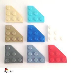 Lego 2450-4x Wedge plate 3x3 Cut corner Choisissez votre couleur NEW
