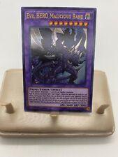 Yugioh Evil Hero Malicious Bane LED5-EN012 LED5-DE012 Ultra Rare GERMAN 1st Ed